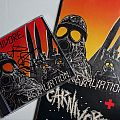 Carnivore - Carnivore/Retaliation longbox with signed CD artwork Tape / Vinyl / CD / Recording etc