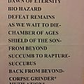 Other Collectable - Massacre setlist