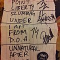 Havok setlist & pick Other Collectable