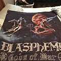 Blasphemy - Gods of War album cover flag  Other Collectable
