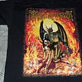 Cradle of Filth - Fucked Up At Donington 2002 shirt signed by whole band