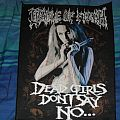 Cradle of Filth - Dead Girls Don't Say No backpatch