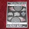 Absu - Pittsburgh gig flyer signed by band