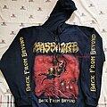 Massacre (USA) - Hooded Top - Massacre - North American Tour 2014 Zip Hood