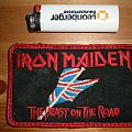 iron maiden ´the beast on the road` patch