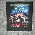 iron maiden `rock in rio` back patch