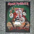 iron maiden ´ten years - judge` back patch