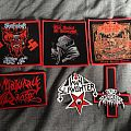 Shitfucker, Slaughter Messiah, Mortuary Drape, Nunslaughter, Ruins Of Beverast patches