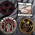 Blasphemophagher, Watain, Abigail, Grave Upheaval patches