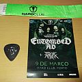 Bass guitar pick from Victor Brandt from Entombed A.D. plus Ticket from the show