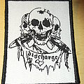 Discharge - 3 skulls and logo Patch