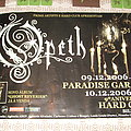 Opeth - Ghost Reveries tour Poster from Hard Club Porto