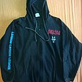 "Deicide original ""Legion"" 1991 hooded sweater Blue Grape"