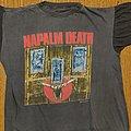 """Napalm Death - TShirt or Longsleeve - Napalm Death original """"death by manipulation"""" 1991 shirt"""
