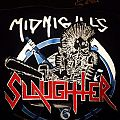Slaughter - Logo Embroidered Backpatch ( w/glitter )