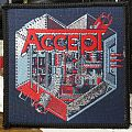 Accept - Patch - Accept - Metal Heart (black borders)