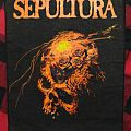 Sepultura - Patch - Sepulura - Beneath The Remains (vintage Backpatch & First Press LP )