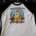 Iron Maiden - World Slavery Tour Baseball Tee (Fan Re-production) TShirt or Longsleeve