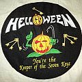 Helloween - Patch - Helloween round backpatch and strip.