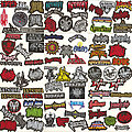 1349 - Patch - Small Embroidered Shaped-Logo Patches I
