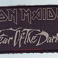 Fear Of The Dark 1992 red Patch