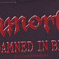 Damned In Black Stripe Patch