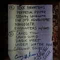 Yawning Man - Other Collectable - Yawning Man Signed Setlist