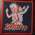 "Vintage Exodus ""Bonded By Blood"" red border patch"