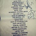 Song list Nagoya 2008 signed Other Collectable