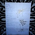 Nifelheim - signed setlist Other Collectable