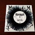 """Memoriam - The Hellfire demos II 7"""" (black-splattered white) - signed Tape / Vinyl / CD / Recording etc"""