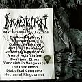 "Incantation - ""XXV"" European tour 2016 - signed setlist + pick Other Collectable"
