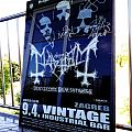 Mayhem - De Mysteriis Dom Sathanas - Event poster - signed Other Collectable