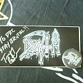 Death - Sticker and pin - signed Other Collectable