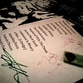 Sadistic Intent - signed setlist + pick Other Collectable
