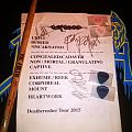 Carcass - Deathcrusher Tour 2015 - signed setlist + picks + signed drumstick Other Collectable