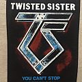 Twisted Sister - You can't stop rock 'n' roll vintage backpatch