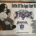 Immortal Battle of the Ages 95 tour poster Other Collectable
