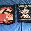 Metallica and iron maiden back patches