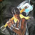 Razor - Battle Jacket - Hand Painted Razor Leather Biker Jacket