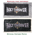 Bolt Thrower - Patch - WARNING! Bolt Thrower Bootlegs on eBay