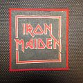 IRON MAIDEN early logo (centered) vintage printed patch