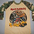 Iron Maiden US Number of the Beast camo jersey TShirt or Longsleeve