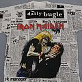 Iron Maiden Be Quick newspaper print Daily Bugle black TShirt or Longsleeve