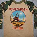 Iron Maiden Texas 82 camo jersey TShirt or Longsleeve