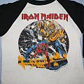 Iron Maiden US Number of the Beast black & white jersey TShirt or Longsleeve