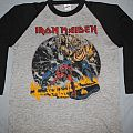 Iron Maiden US Number of the Beast black & grey jersey TShirt or Longsleeve