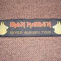 Iron Maiden patch - world slavery tour