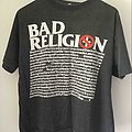 Bad Religion, 1992 TShirt or Longsleeve