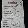 Merciless - Other Collectable - Merciless, autographed setlist
